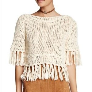 Free People On The Fringe cream sweater S